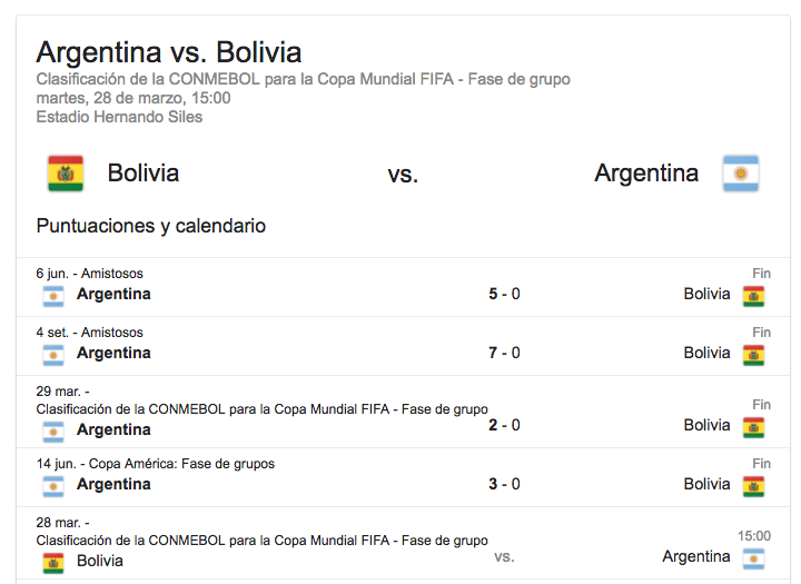 Argentina sin Messi cayó derrotada en la altura boliviana