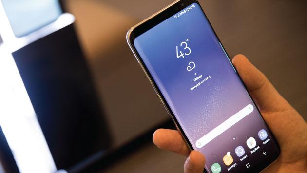 Este es el nuevo teléfono de Samsung. (AFP)