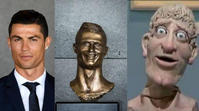 El busto se parece poco o casi nada al delantero portugués.