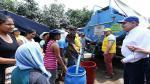 Luis Castañeda inspeccionó distribución de ayuda humanitaria en décimo albergue temporal de Carapongo. (Difusión)