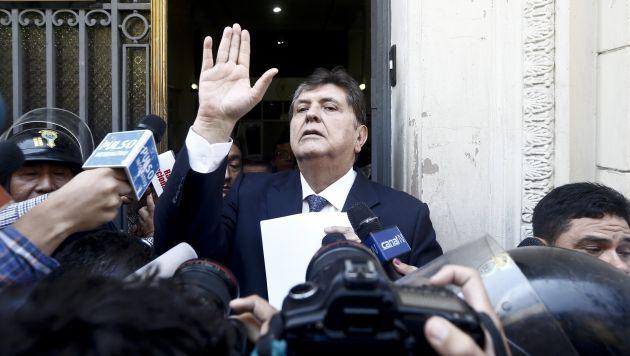Alan García pasó a calidad de investigado en el caso del Metro 1 de Lima. (Renzo Salazar)