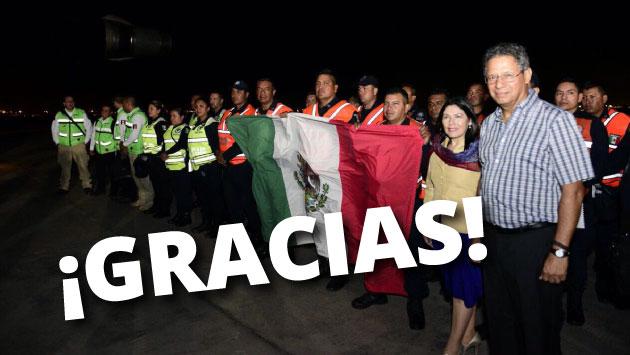 El equipo de rescate de policías mexicanos que llegó al Perú. (Foto: Perú21)