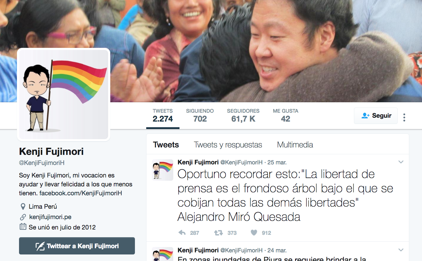 Congresista cambió foto de Twitter tras debate sobre violencia de género — Perú