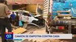 Chorrillos: Cinco heridos tras choque de camión con vivienda [Video] - Noticias de casimiro ulloa