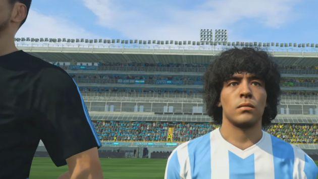 Maradona demandará a Konami por el uso de su imagen (Captura)