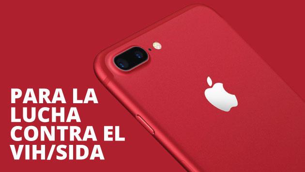 El iPhone 7 Product (RED) es parte de la gama de productos para luchar contra el VIH/sida