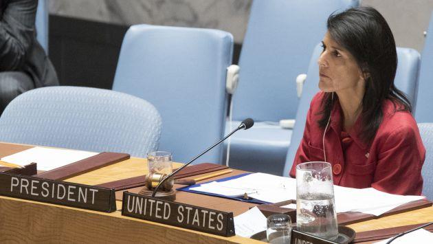 Haley ante el Consejo de Seguridad de la ONU (AP)