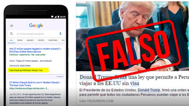 Google filtrará y etiquetará las noticias falsas de su buscador (Captura)