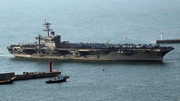 Estados Unidos despliega buques de guerra y portaaviones a la península de Corea del Norte. (EFE)