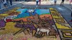 Semana Santa: Retratan a Evangelina Chamorro en concurso de alfombras florales [Fotos] - Noticias de evangelina chamorro