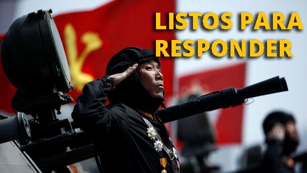 Corea del Norte asegura que responderá con fuerza a cualquier intervención de Estados Unidos. (Reuters)