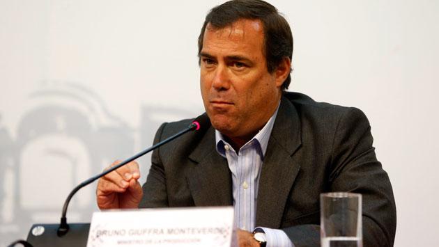El ministro de la Producción, Bruno Giuffra. (Mario Zapata)