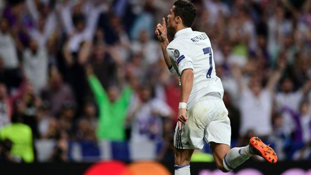 Ronaldo marcó el empate parcial entre Real Madrid y Bayern Munich por los cuartos de final de la Champions League. (AFP)