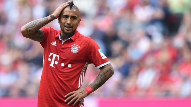 Vidal culpó al árbitro de la eliminación de su equipo. (Foto: AFP)