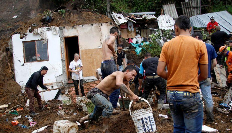 Colombia: Al menos 11 muertos y más de 20 heridos por fuertes lluvias