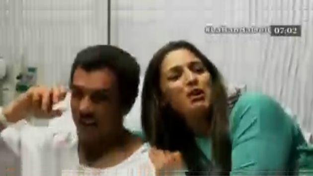 Pareja de deportistas fueron asaltados a horas de llegar al Perú desde Estados Unidos. (Captura de TV)