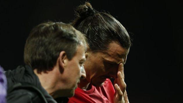 Zlatan Ibrahimovic disputó el duelo frente al Anderlecht que terminó clasificando al Manchester United a las semifinales de la Europa League. (Reuters)