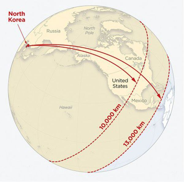 Este es el alcance de los misiles más aterradores de Corea del Norte ...