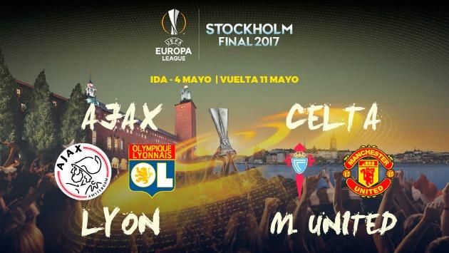Equipos se enfrentarán por llegar a la final en Estocolmo (Fuente: Europa League)