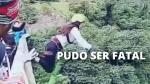 Bolivia: Joven se estrella en el suelo tras fallido 'puenting'. (Captura)