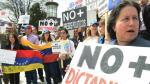 Para poder hacer efectiva su salida, Venezuela debe pagar su deuda a la OEA, esta supera los ocho millones de dólares (AFP)