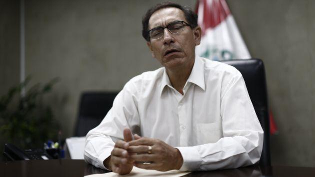 Oposición presentó moción de interpelación contra Martín Vizcarra. (Perú21)