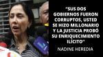 """Nadine Heredia responde a Alan García: """"No sea llorón"""" - Noticias de reelección conyugal"""
