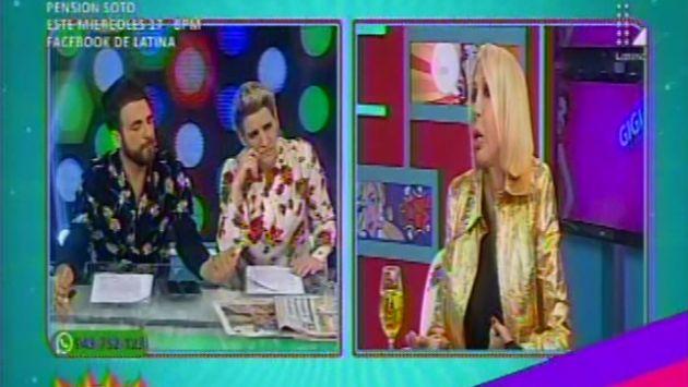 Laura Bozzo acusa a Nicolás Lúcar de armarle una trampa. (Latina)