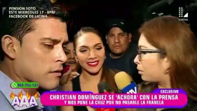 Christian Domínguez se niega hablar con reportera de Amor, amor, amor, y le responde sarcásticamente. (Latina)