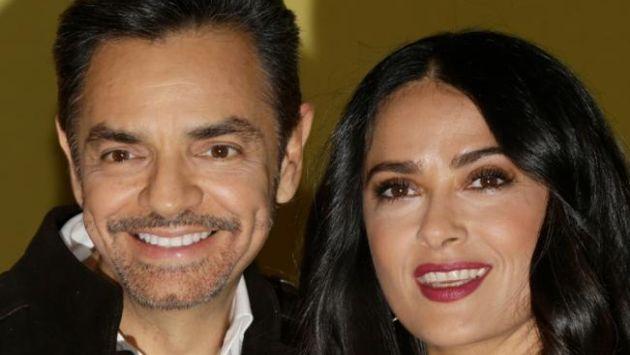 Eugenio Derbez y Salma Hayek se unen en la película 'Cómo ser un latin lover' (AP)