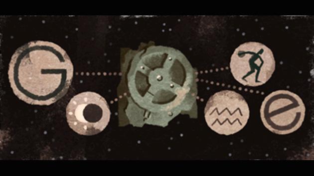 Google: ¿Qué es el enigmático 'mecanismo de Antikythera', el nuevo 'doodle' del buscador? (Captura)