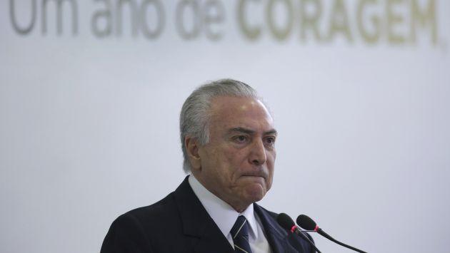 El presidente de Brasil Michel Temer fue grabado en una polémica conversación de compra de silencio (AP).