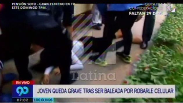 Joven mujer fue baleada por un delincuente para robarle un celular. (Latina)