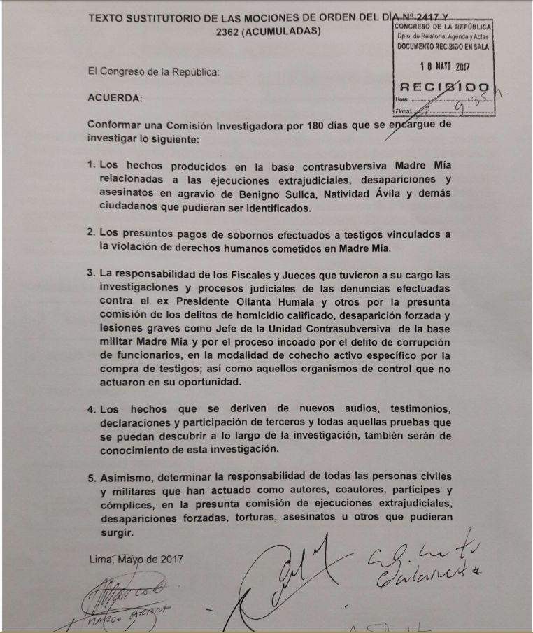 Ollanta Humala sobre acusaciones: