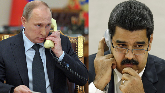 Vladimir Putin se comunicó con Nicolas Maduro y le ofrece su apoyo frente a las protestas en Venezuela (Composición)
