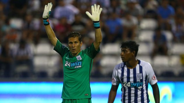 Palabra de referente. El meta aliancista se tiene fe para pasar de fase en la Copa Sudamericana. (USI)