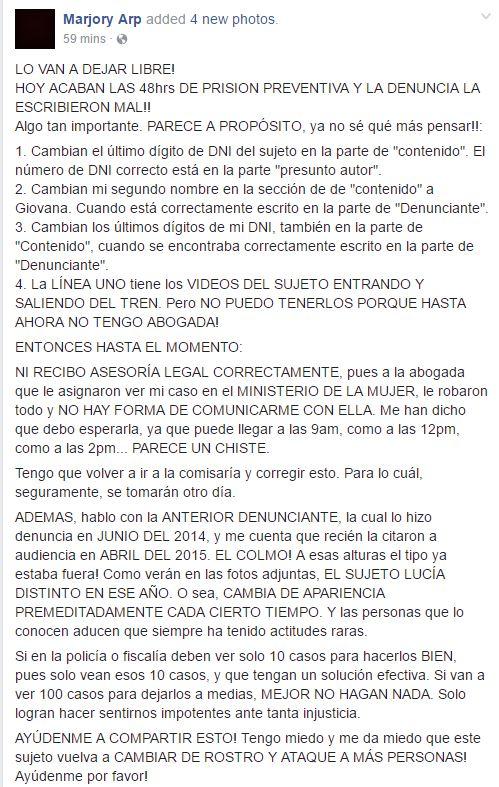 Metro de Lima: Acoso sexual callejero