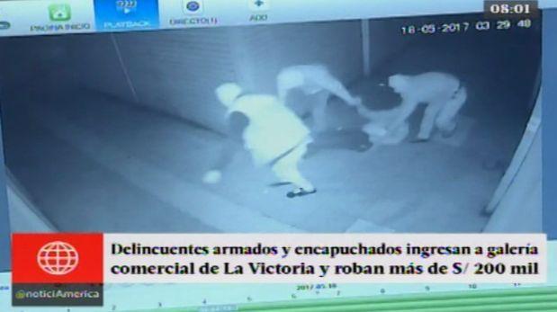 La Victoria: Delincuentes ingresan a galería comercial y roban más de S/ 200 mil. (América)