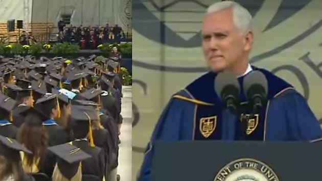 Estados Unidos: Estudiantes decidieron irse de graduación mientras que el vicepresidente Mike Pence daba discurso (Fox News)