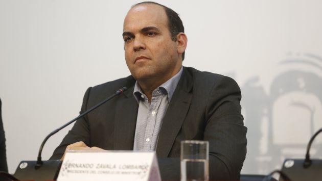 """Fernando Zavala cuestionó """"obstrucción"""" de Fuerza Popular. (USI)"""