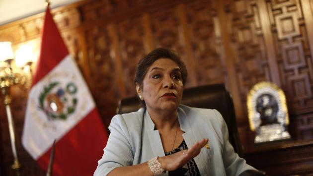 Presidenta del Legislativo asegura que no son obstruccionistas. (Renzo Salazar)