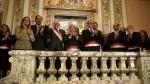 Bruno Giuffra y Pedro Olaechea juraron como ministros de Transportes y Producción. (Presidencia)