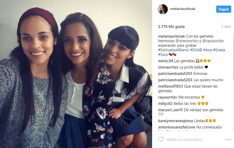 De vuelta al barrio\': Melania Urbina y las gemelas en un selfie