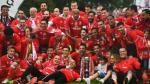 Benfica derrotó 2-1 a Vitoria Guimaraes este domingo, en la final de la Copa de Portugal. (AFP)