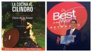 Guillermo Gonzales Arica, coautor de 'La cocina al cilindro – Fiesta de las brasas', recibió el reconocimiento (Difusión).