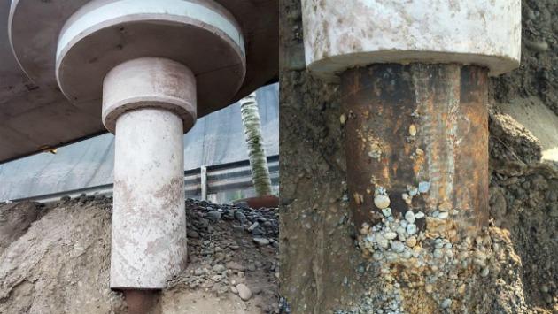 Municipalidad indica que concreto en pilotes no cumple ninguna función estructural en la obra (Composición)