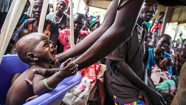 Bebés se llevan la peor parte de esta hambruna. (AFP)