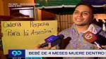 Fiscalía abre investigación preliminar por muerte de bebé en guardería de Los Olivos - Noticias de marisela puic��n