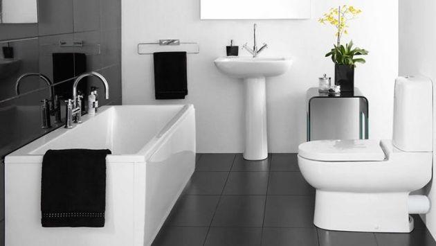 Deco.21: Baños en blanco y negro, consejos para lograr un mejor impacto de este ambiente íntimo (Difusión)