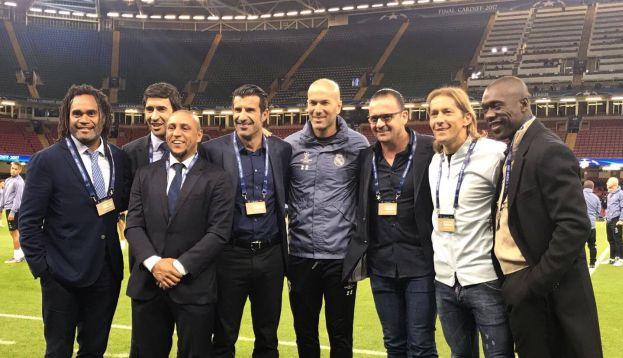 'Los Galácticos' visitaron a Zidane previo a la final. (Real Madrid)